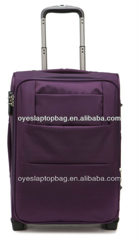 waterproof purple elegant 24 inch big luggage and bags