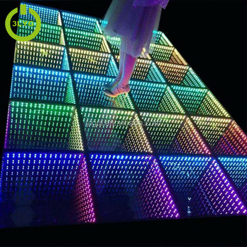 2019 new arrival CE ROHS wedding club 3D optical illusions led mirror led dance floor