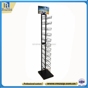 Customize garment racks retail cap hat holder grid panel grid wall display wire