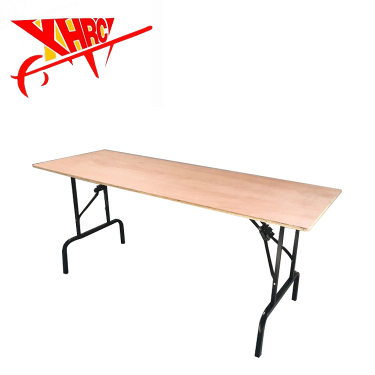 Rectangular wood folding table/Folded/Folding Event/Banquet/Dining/Party Table