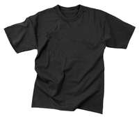 Black t-shirts 60% cotton 40% polyester