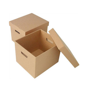 custom made brown kraft cardboard archive box