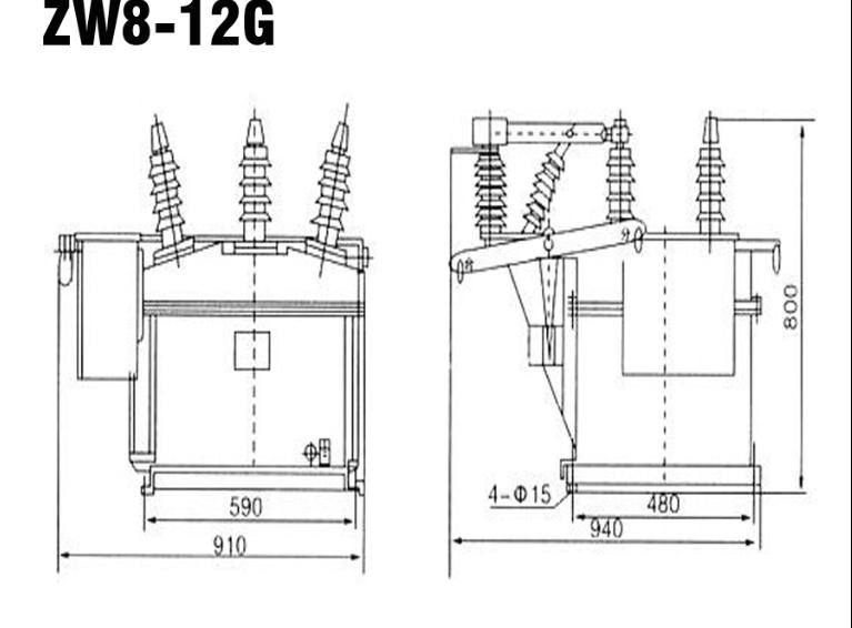 zw8 outdoor vacuum circuit breaker recloser 12kv manufacturers