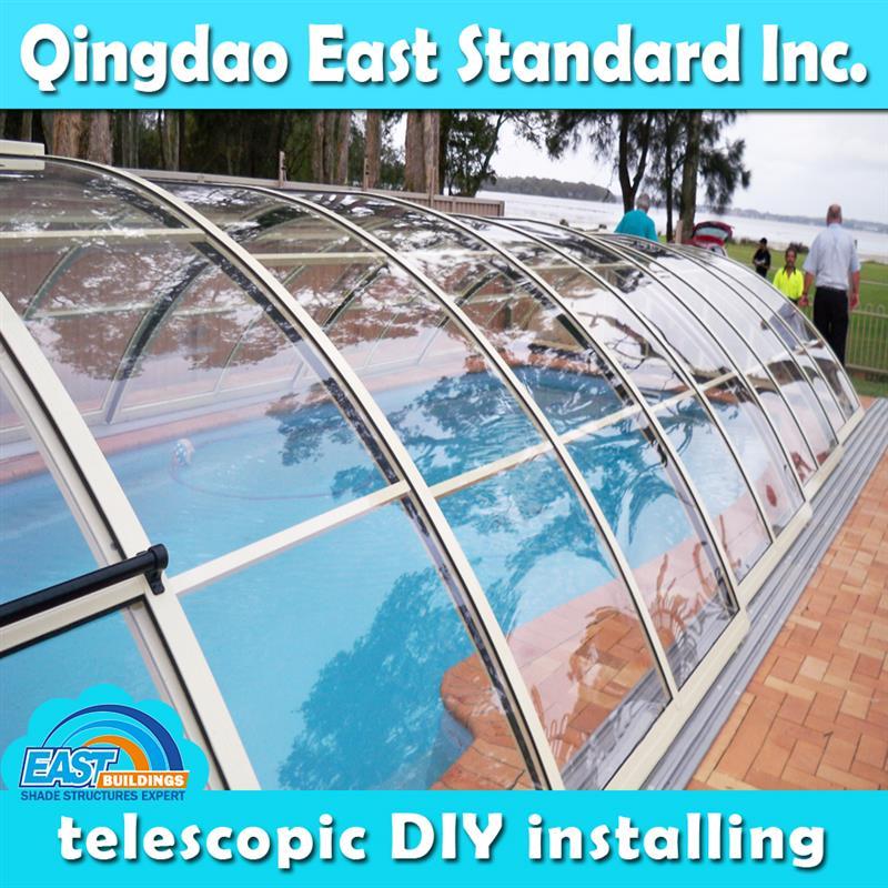 Polycarbonate jardin d\'hiver rétractable couverture de piscine spa ...