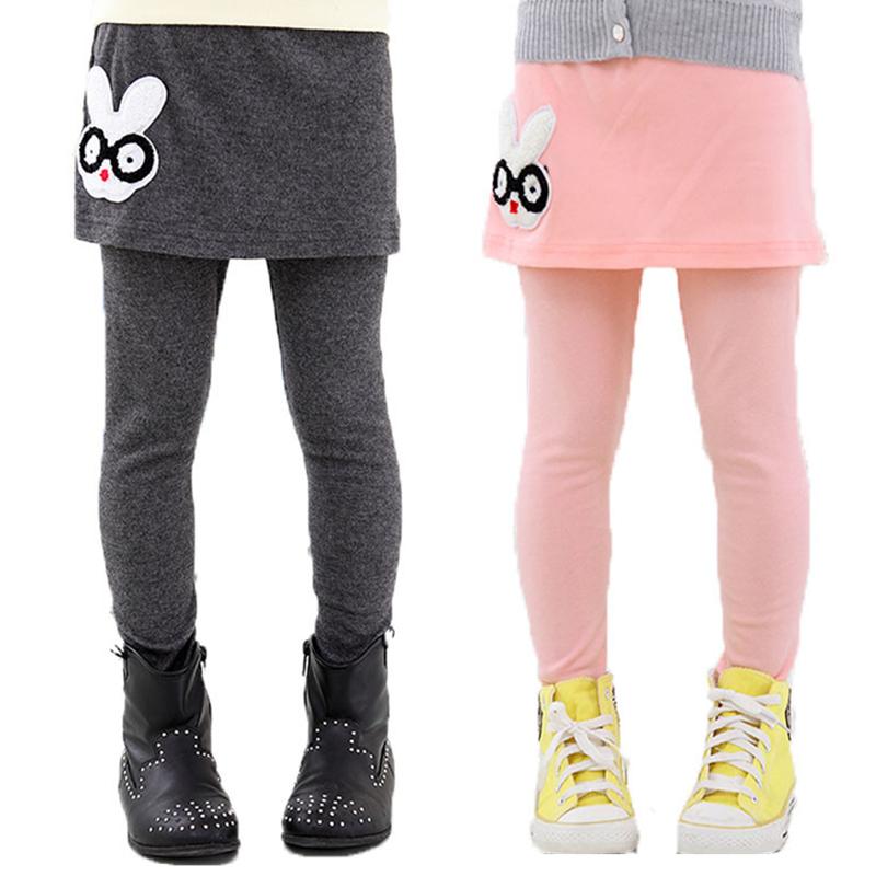 79da503cb0748 Get Quotations · Autumn winter girls leggings kid solid cotton rabbit  glasses skirt pants kids leggings girls baby pants