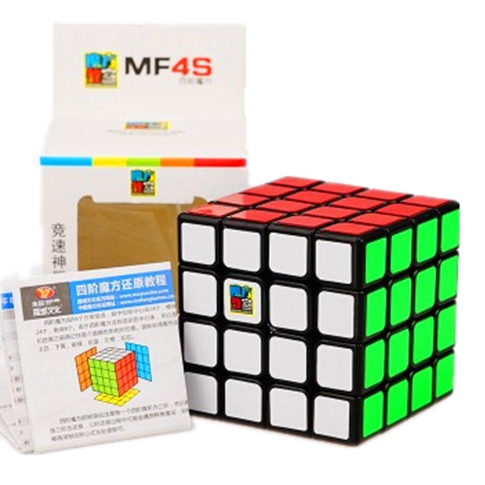 Cuberspeed Moyu Mofang Jiaoshi 4X4 Black Magic cube Cubing Classroom MF4S Black 4X4X4 Speed cube