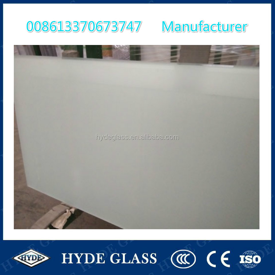 China tempered acid etched glass sand blasted glass frosted glass price