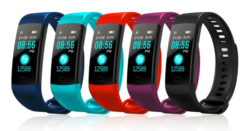 Colorful screen Y5 bracelet smart watch 2019 trend blood pressure fitness tracker sleep monitor Y5 heartrate blE wristband