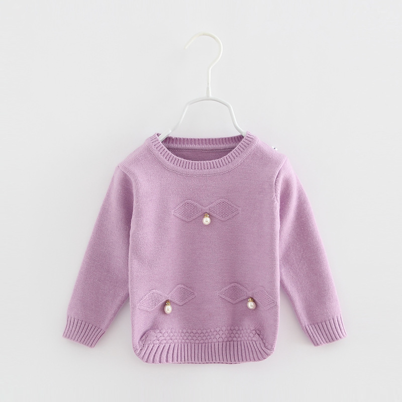 B11714A China wholesale girls autumn sweater, baby girl computer knit sweaters