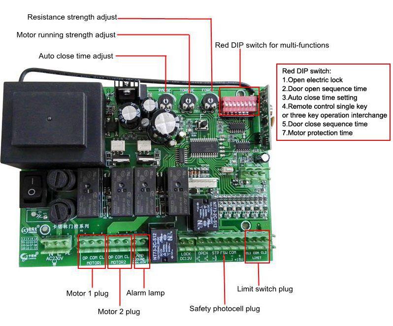 Oem Control Panel Swing Gate Motor Control Board Buy