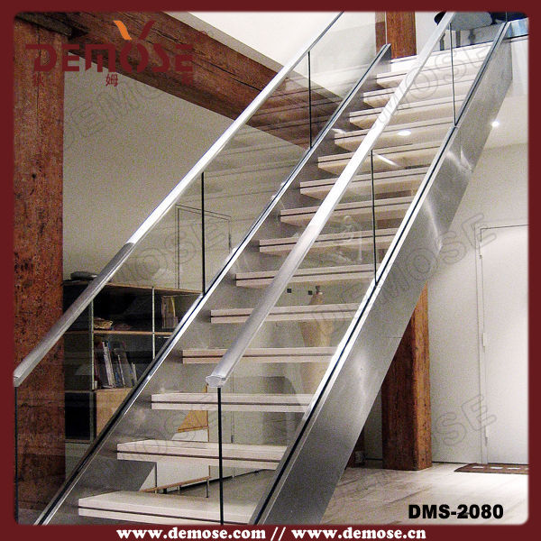Staircase Installation/wood Stair Railings/stainless Steel