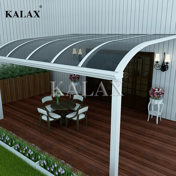 High quality commercial balcony patio awnings /aluminum awnings canopy with polycarbonate
