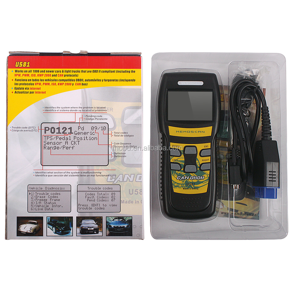 Obd2 Auto Diagnostic Tool Obd 2 Obd Ii Scanner Code Reader Can ...