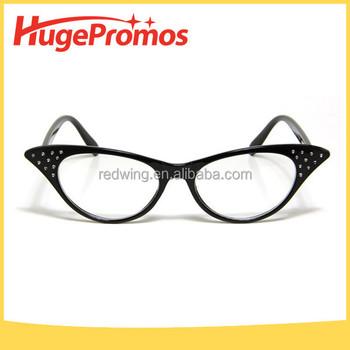 Custom Fashion 50s Vintage Black Cat Eye Shape Glasses - Buy Cat Eye ...