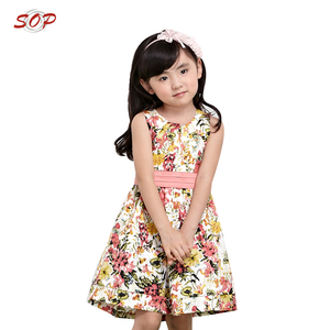 In stock children frocks designs casual girls dresses