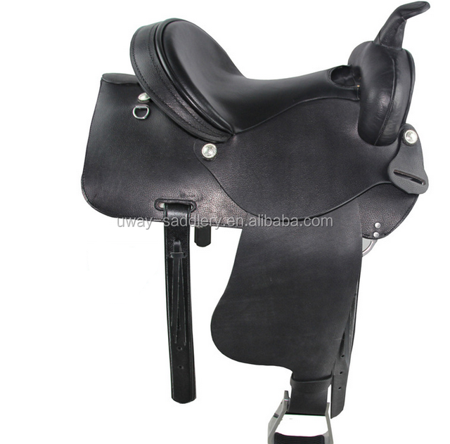 Western horse riding saddle , made of genuine leather, different size and color for choice
