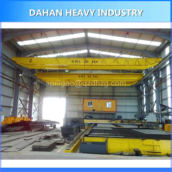 Workshop Roof Top Running Radio Control Electric Motor Driven 5 Ton Single Beam Bridge Crane Used In USA Chile Bulgaria PH