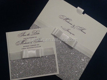 luxury glitter sparkle handmade wedding invitation buy glitter