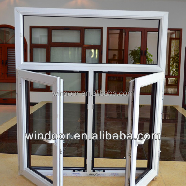 Wholesale New design Long-lived PVC double glazed tempered glass house windows for projects