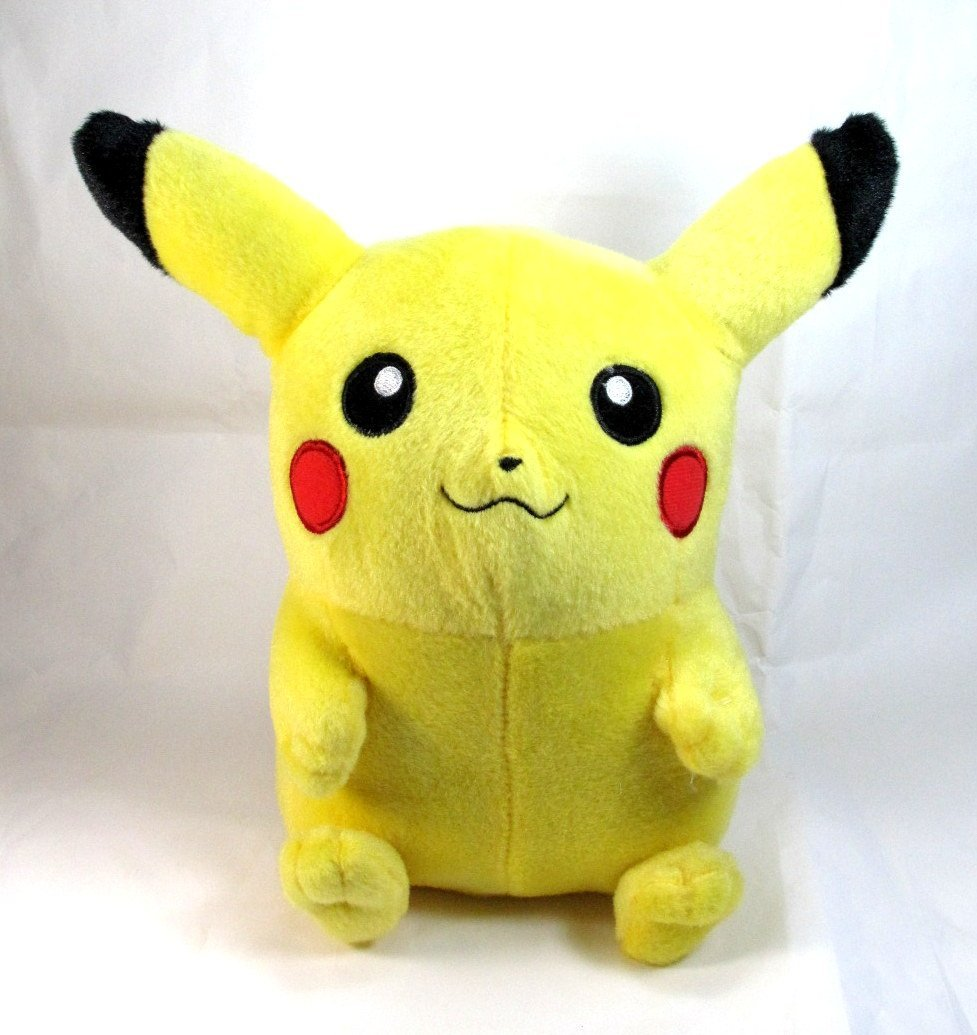 """2011 Pokemon Black & White Deluxe 10"""" Pikachu Plush Character Toy / Officially Licensed By Nintendo"""