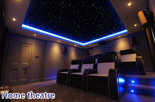 Home Car Roof Cinema Bed Room Ceiling Lighting Fiber Optic Starry - How-to-make-a-starry-night-ceiling-in-the-bedroom