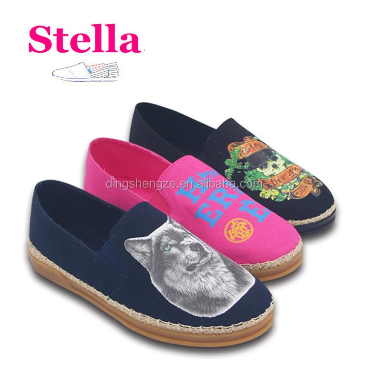 Hombres fabricantes de yute alpargata suela niños zapatos al por mayor