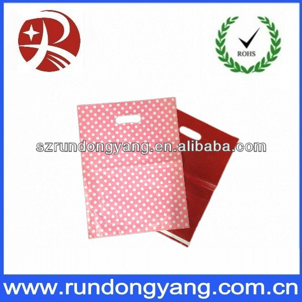 High Quality Printing Patch Handle Die Cut PlasticBag