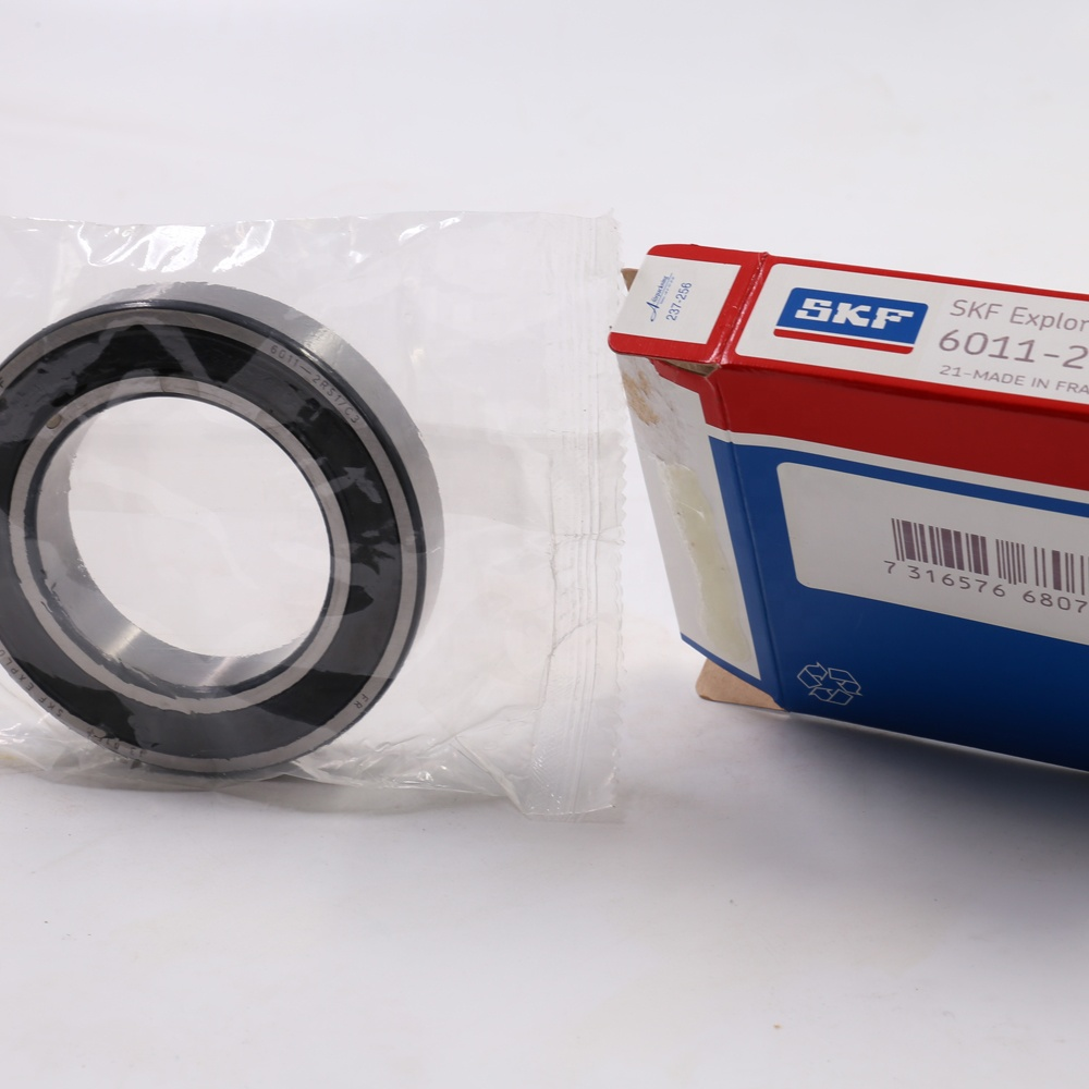 Chrome Steel deep groove ball bearing SKF Bearing 6011 2RS1 C3 for bicycle