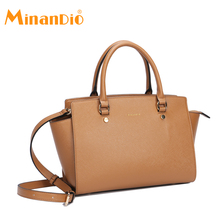 MINANDIO 2018 latest new design luxury brand lady leather handbag women pu shoulder bags ladies hand bag purse