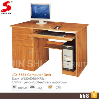 Whole Price High Quality Custom Simple Design Mdf Wooden Office Computer Table With 3 Drawer
