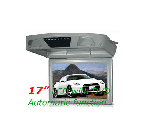 17 inch automatic flip down car DVD player with TV/PAL/NTSC/VGA