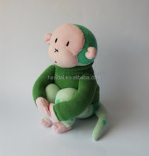new plush my sitting green monkey toys