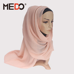 Custom Print Pure Color Silk Chiffon Arab Muslim Women Head Scarf Hijab