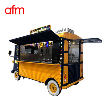 Mobile electric food truck catering bus