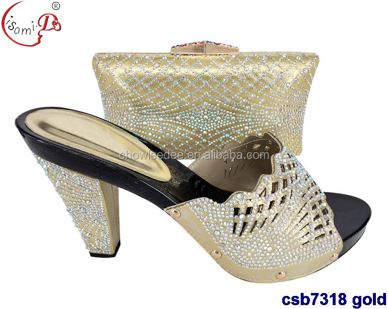 nigeria New 2017 ladies matching shoes set bags styles csb7318 and hot shoes party african bag 5zwaxBAqq