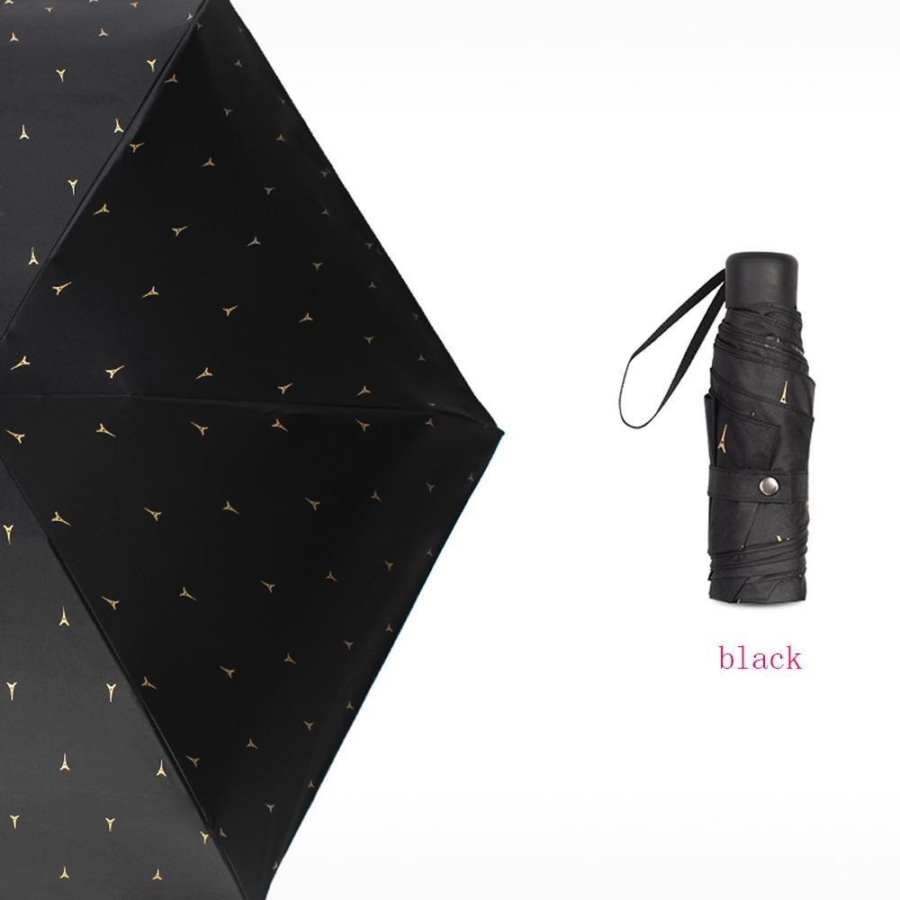 XUEXIN Umbrella sun umbrella umbrella sunscreen ultra-light sunscreen anti-ultraviolet folding rain and rain dual-use black umbrella