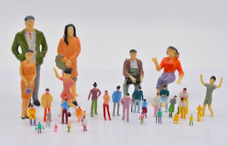 O N Ho Scale Figures - Buy Mini Plastic People,Plastic Model People,Mini  People Toys Product on Alibaba com