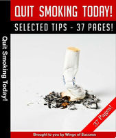 Quit Smoking Today PDF eBook With Full Resale Rights (37 pages)