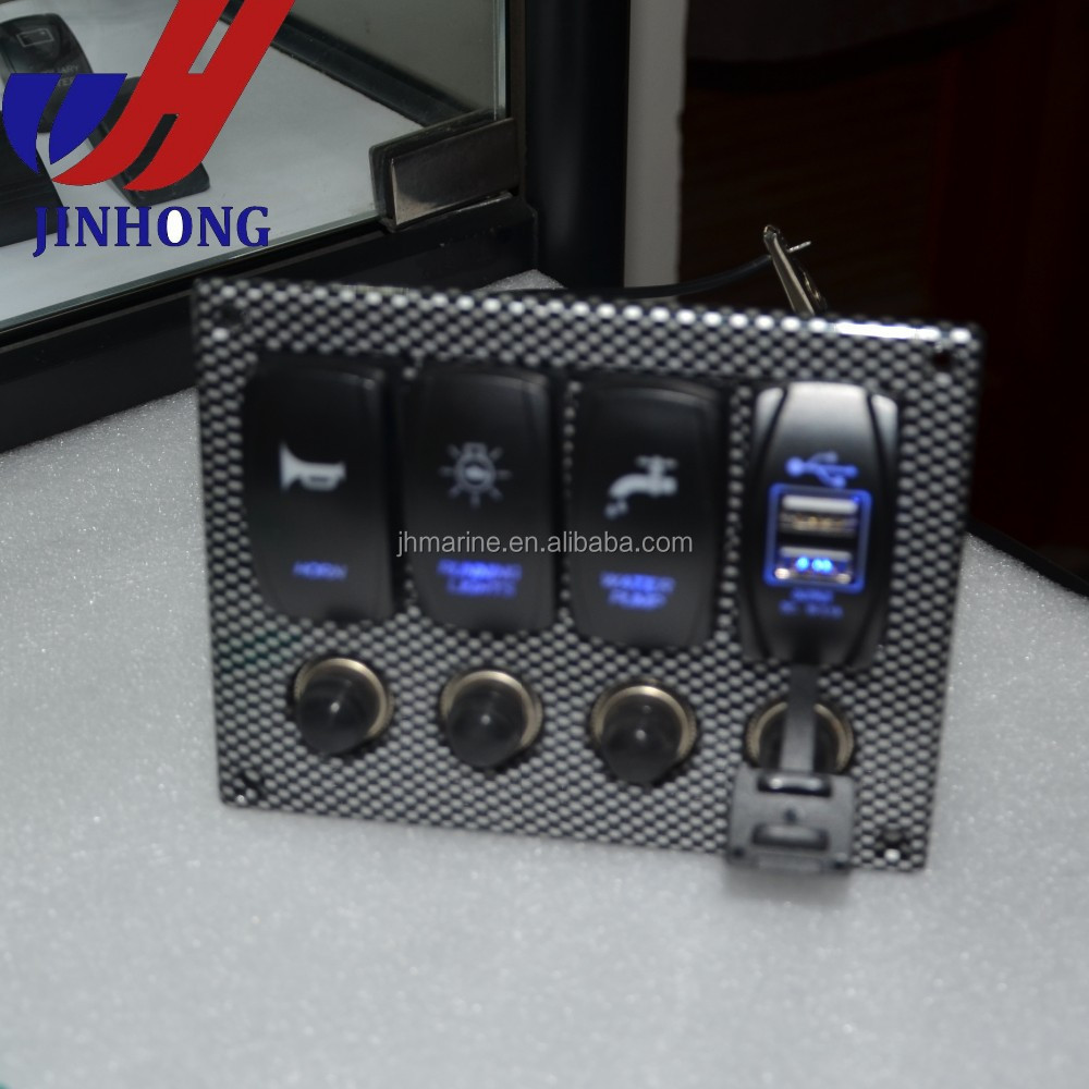 4 Gang Marine Rocker Switch Panel With Voltmeter Carling Arb Size Offon Switches Electrical Products Buy 12v Panelautomotive Panelmarine Product On