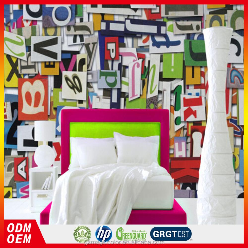 Colorido 3d carta personalizado mural papel de parede para for Mural pared personalizado
