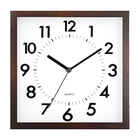 QingFeng 10 inch custom small square stylish fashion design wall decor wood clock with silent sweep move