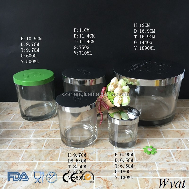 Premium Quality 700ml 24oz Candle Glass Jars with Lids