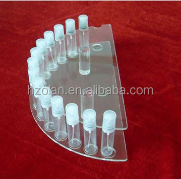 Half Circled Acrylic Cosmetic Display Stand Manufacture