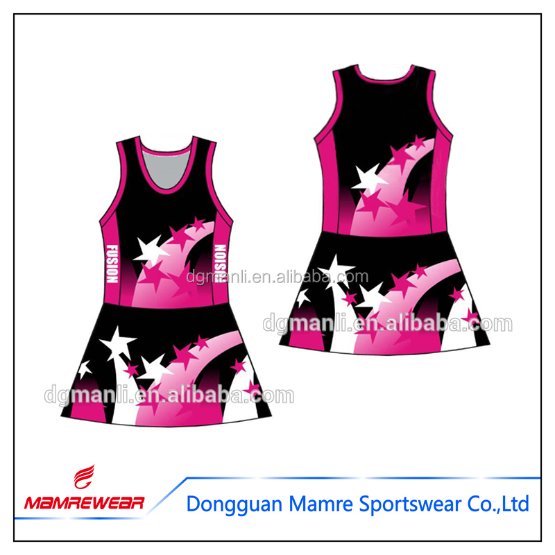 OEM polyester active sportswear brands badminton tennis jerseys, netball uniforms dress wear