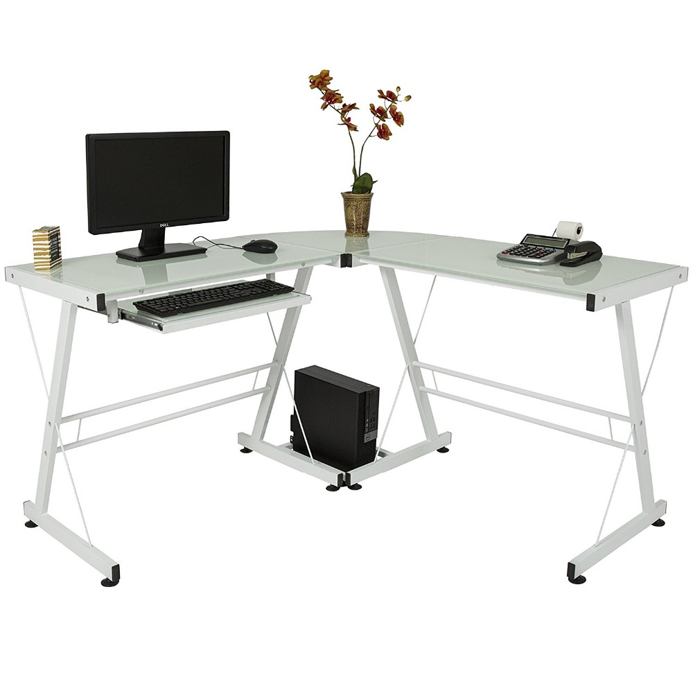 Cheap office table executive ceo desk office desk glass laptop table workstation corner home office white