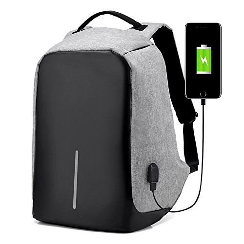 Anti-theft Backpack With USB Charge Port, Concealed Zippers And Larger Volume Capacity, Casual Lightweight Waterproof for School