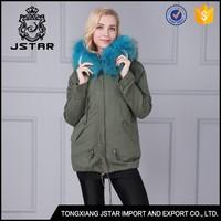 UK popular women's fox fur collar coat from direct factory