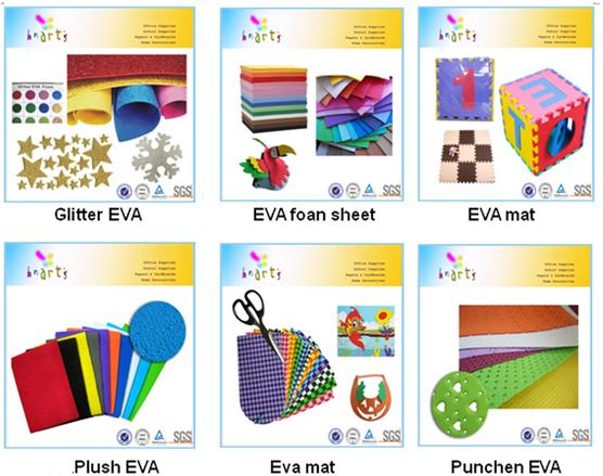 Color Eva Glitter Paper Printed Glitter Goma Eva Glitter