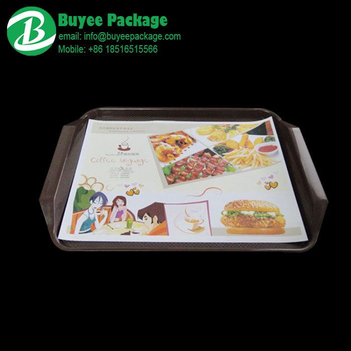 food service tray mat liner paper with custom design