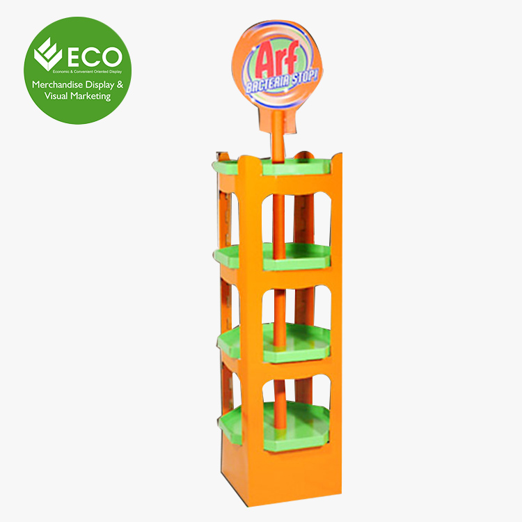 Design unico Cartone Ondulato/Plastica Lollipop Pop Display Stand